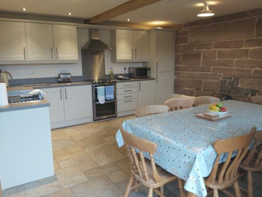 kitchen area in The Stable's Shropshire accommodation