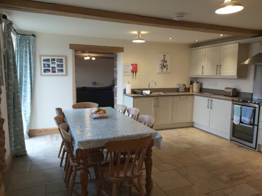 Large dining table The Stables holiday cottage