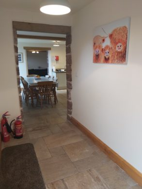 Hall way leading to kitchen
