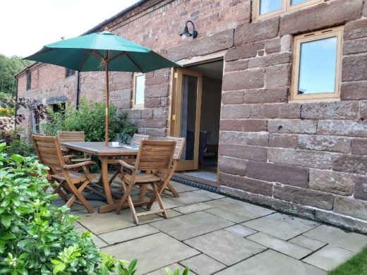Garden table & chairs, Shropshire accommodation