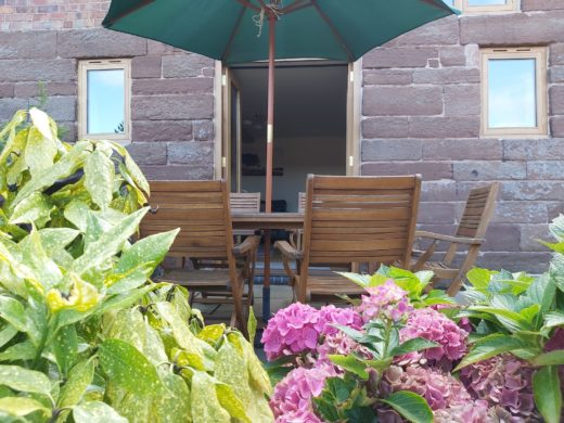 The Stable's holiday cottage patio