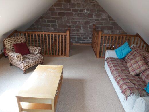 extra space in the mezzanine area