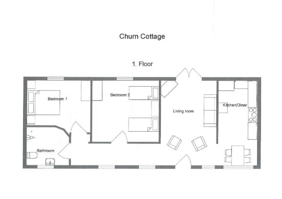 floor plans for Churn cottage