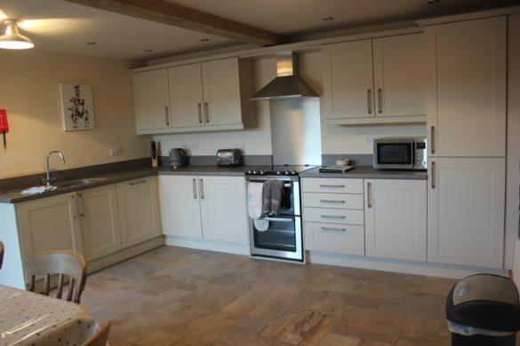 Fully fitted kitchen, The Stables holiday cottage, Shropshire