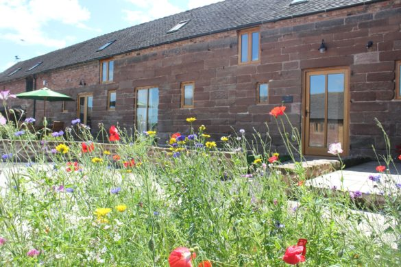 Front view of The Stables, Shropshire holiday cottage