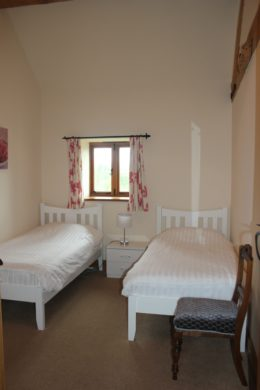 twin beds in spacious room