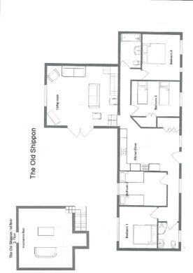 Floor plan for The Old Shippon holiday cottage